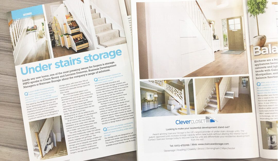 Clever Closet Feature in Professional House Builder and Property Developer Magazine